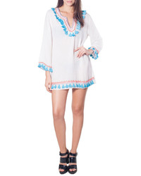 Bindya Boho Tassel Coverup White