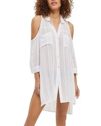 Topshop Jacquard Cold Shoulder Cover Up