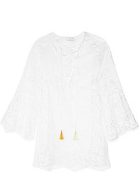 Miguelina Karla Crocheted Cotton Coverup White