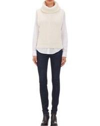 White cowl neck sweater original 3685874