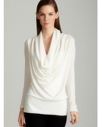 Annalee hope cowl neck sweater in off white medium 433439