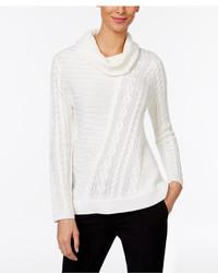 Calvin Klein Mixed Stitch Cowl Neck Sweater