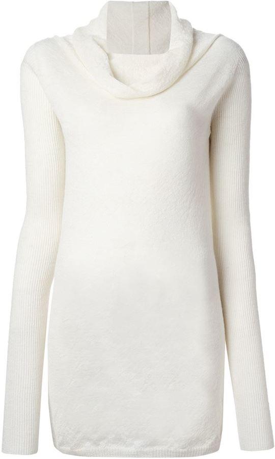 Rick Owens Cowl Neck Sweater