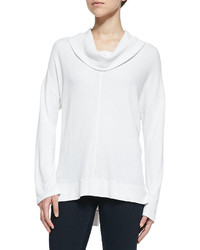 Splendid Cowl Neck Thermal Sweater Pearl