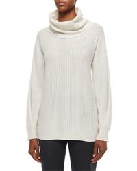 Agnona Mini Cable Knit Cowl Neck Cashmere Sweater