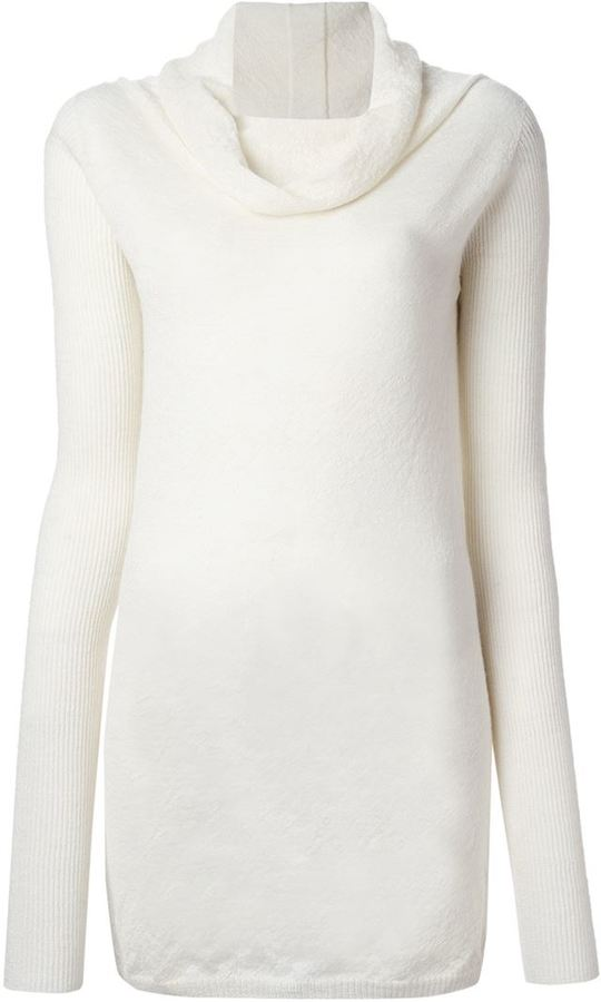 Rick Owens Cowl Neck Sweater