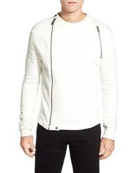 Bogosse Adonis Long Sleeve Front Zip Crewneck Sweater