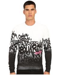 DSQUARED2 All Over Ds2 Graffiti Sweatshirt