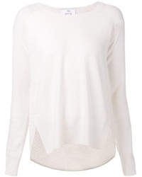 Allude Woven Pullover Sweater