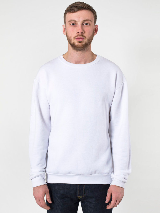 American Apparel Flex Fleece Crewneck Pullover Drop Shoulder ...