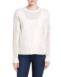 Amory open knit sweater medium 793664