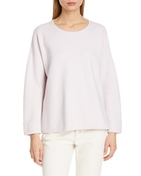 Eileen Fisher Boxy Organic Cotton Blend Sweater