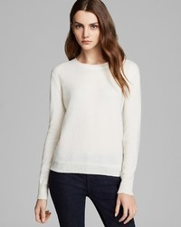Burberry Brit Check Elbow Patch Cashmere Sweater