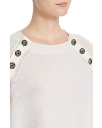 The Kooples Button Detail Cashmere Sweater