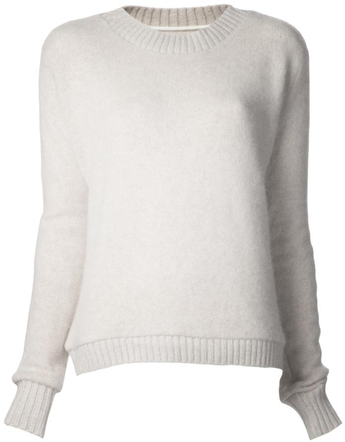The Elder Statesman Cashmere Crew Neck Sweater