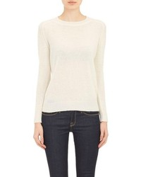 Barneys New York Cashmere Loose Knit Sweater White