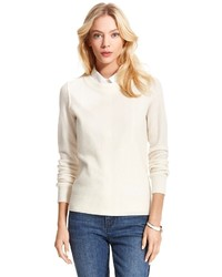 Tommy Hilfiger Cashmere Pointelle Crew Neck Sweater