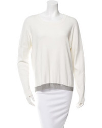 Barbara Bui Chain Link Hem Scoop Neck Sweater