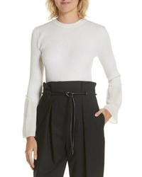 3.1 Phillip Lim Chiffon Cuff Silk Blend Sweater