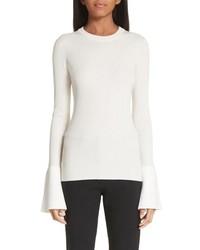Proenza Schouler Contrast Cuff Blend Sweater