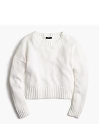 J.Crew Cotton Rib Trim Crewneck Sweater