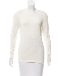Rachel Zoe Crew Neck Rib Knit Sweater