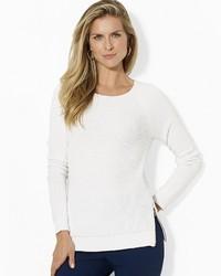 Lauren Ralph Lauren Crew Neck Sweater With Hem Zip