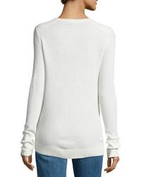 Rag & Bone Crewneck Waffle Knit Sweater Alpine White