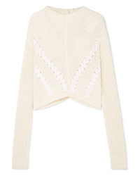3.1 Phillip Lim Cropped Med Ribbed Cotton Sweater