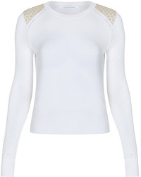 Diane von Furstenberg Raleigh Two Lace Cutout Sweater
