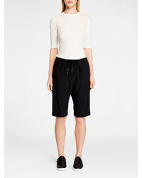 DKNY Ribbed Cotton Pullover