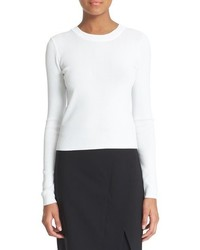 DKNY Ribbed Crop Pullover