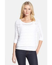 Eileen Fisher Bateau Neck Organic Cotton Sweater