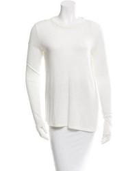 Elizabeth and James Sheer Trimmed Long Sleeve Sweater
