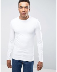 Asos Extreme Muscle Long Sleeve T Shirt With Crew Neck
