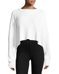 Free People Festival Pier Pullover Slouch Cropped Sweater