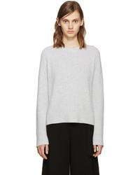 Proenza Schouler Grey Wool Straps Sweater