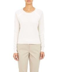 ATM Anthony Thomas Melillo Honeycomb Cropped Sweater White Size L