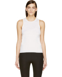Maison Margiela Ivory Cashmere Sleeveless Sweater