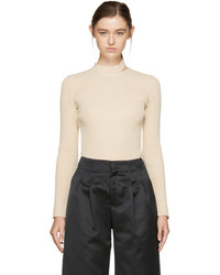 Nomia Ivory Slit Collar Sweater