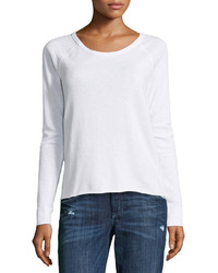 James Perse Fleece Raglan Sleeve Pullover White