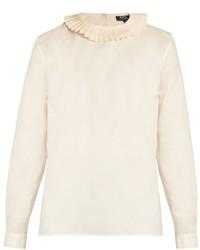 A.P.C. Juliette Oxford Cotton Blouse