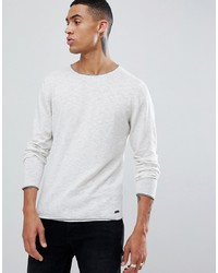 Esprit Lightweight Jumper With Raw Edge In Oatmeal
