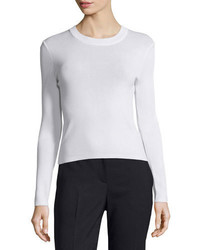 DKNY Lightweight Pullover Sweater White