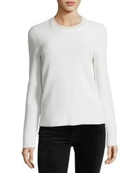 Victoria Beckham Long Sleeve Crewneck Sweater