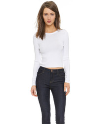 DKNY Long Sleeve Cropped Pullover