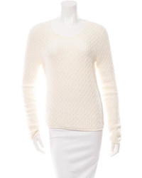 The Row Long Sleeve Open Knit Sweater
