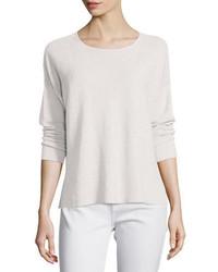 Eileen Fisher Long Sleeve Organic Linen Box Top Plus Size