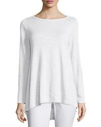 Eileen Fisher Long Sleeve Organic Slub Top Petite