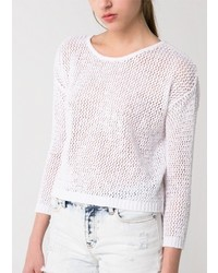 Mango Outlet Open Knit Sweater